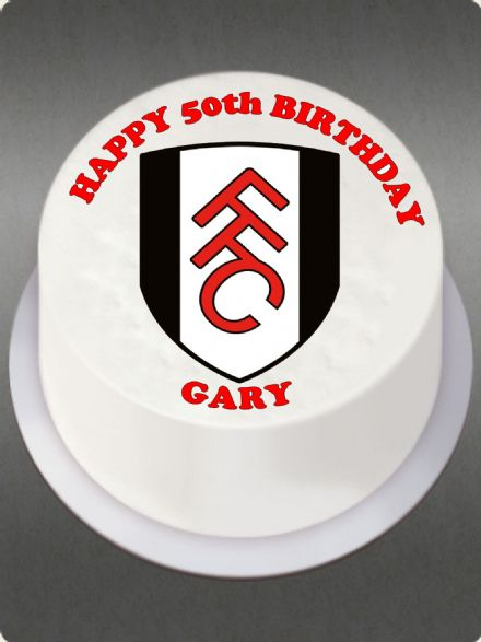 Fulham (White Background) Edible Cake Topper